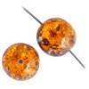 Glass Bead Cracked Round 14mm Crystal Brown Two Tone